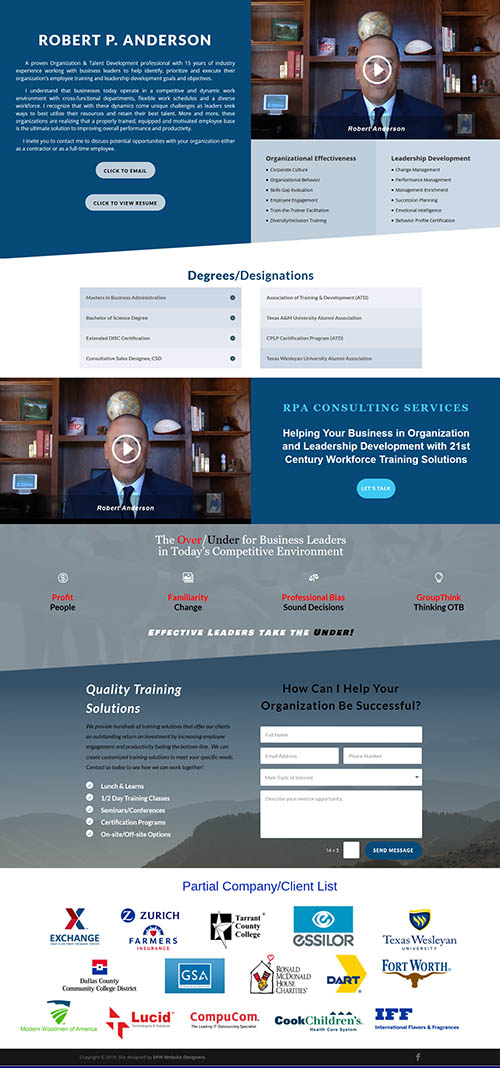 Click to View a Sample Landing Page